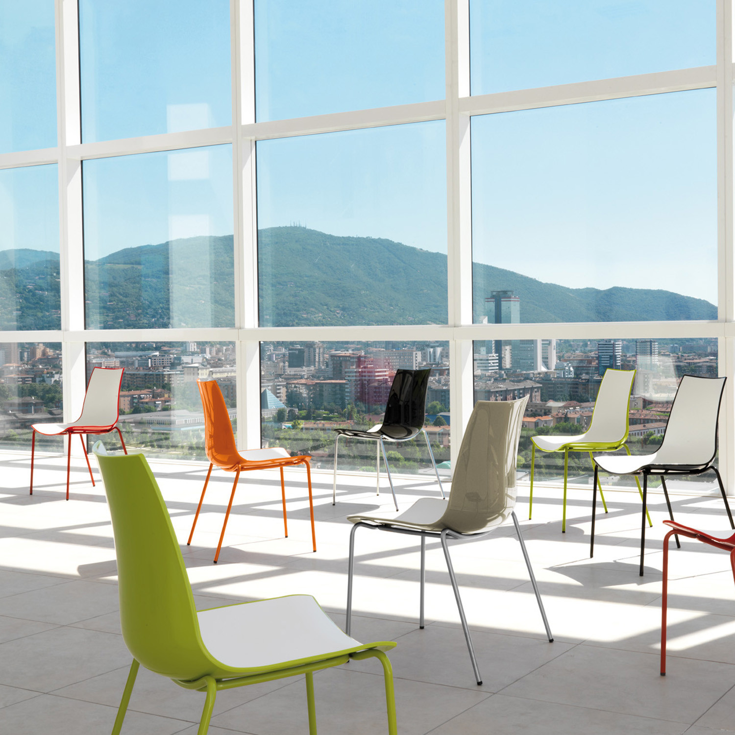 3D-Colour Cafe Chairs
