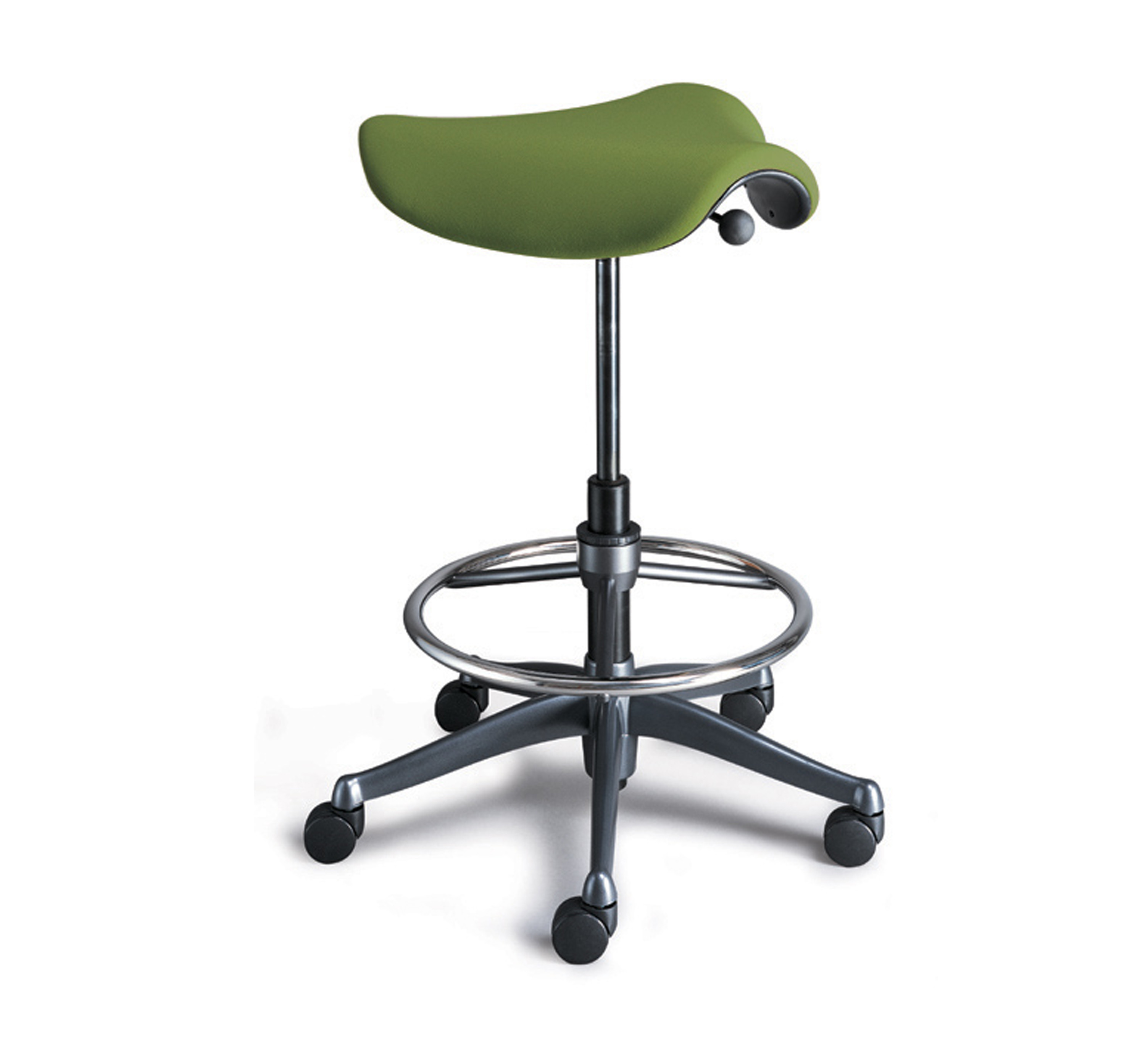 stool tilting black top saddle