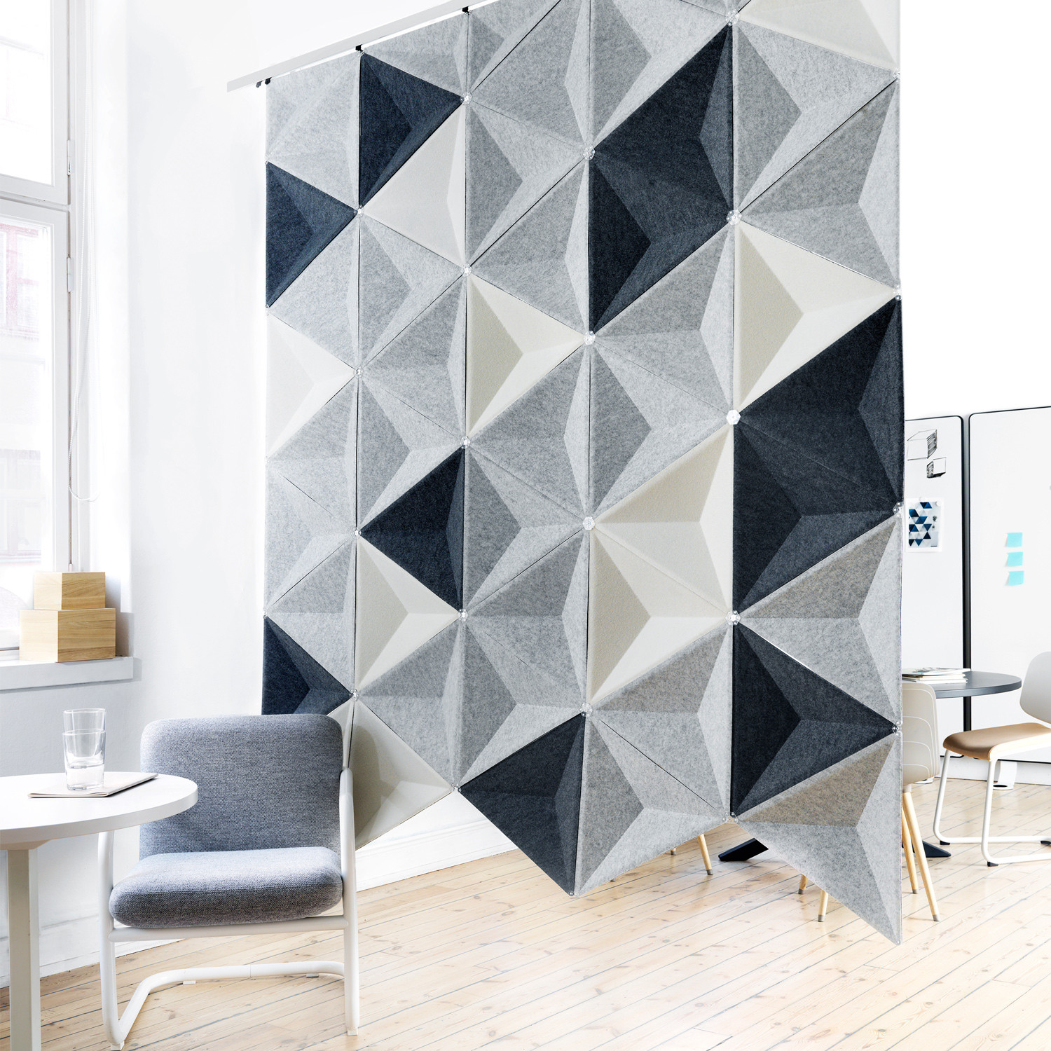Aircone Suspended Acoustic Room Screen