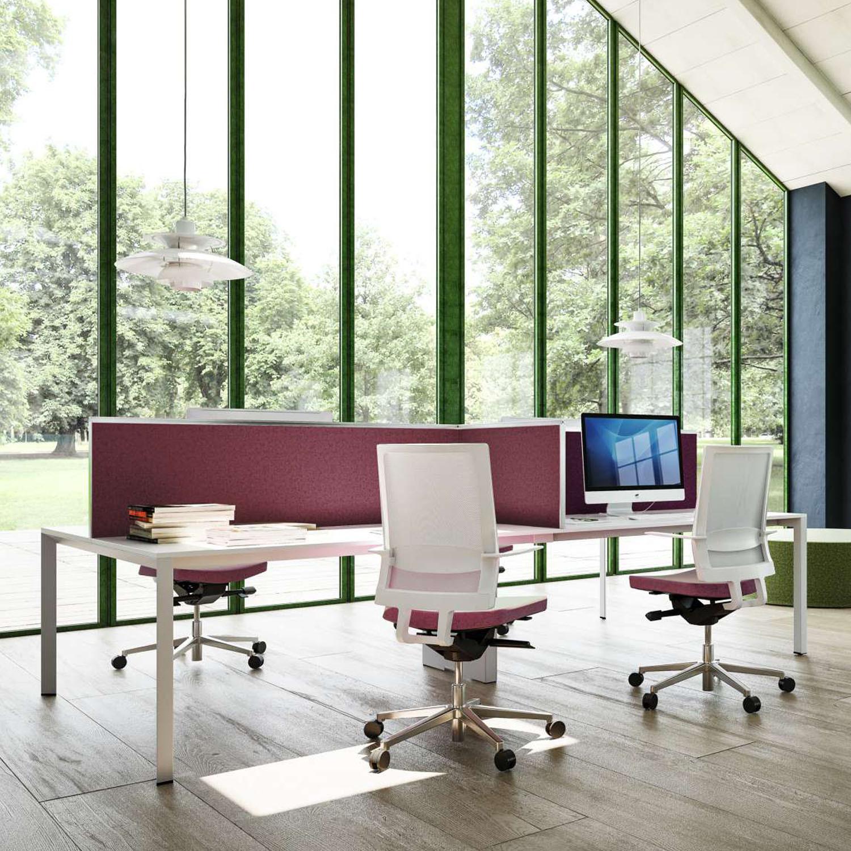 Sinetica Aluscreen Office Desk Divider