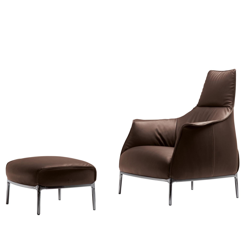 Archibald High Back Armchair with Footrest