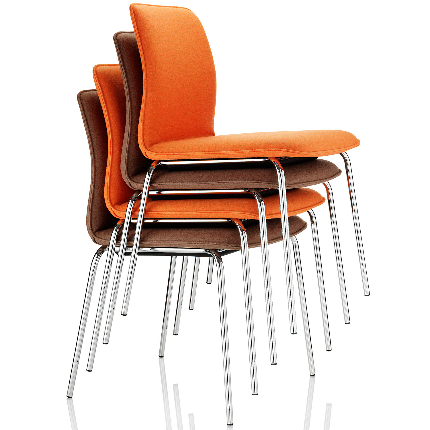 Arran Upholstered Stackable Chairs with 4-legged base