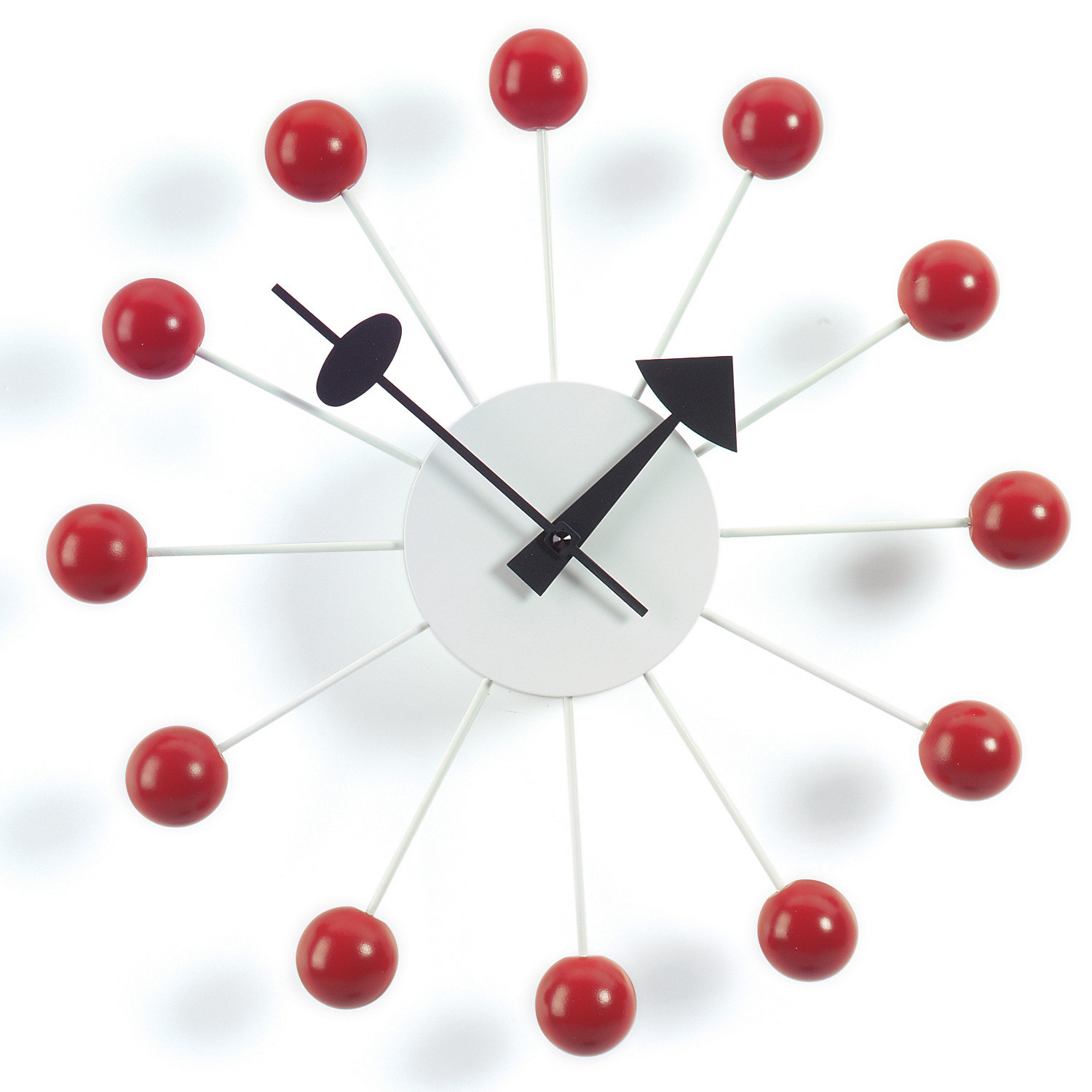 Vitra Ball Wall Clock in Red