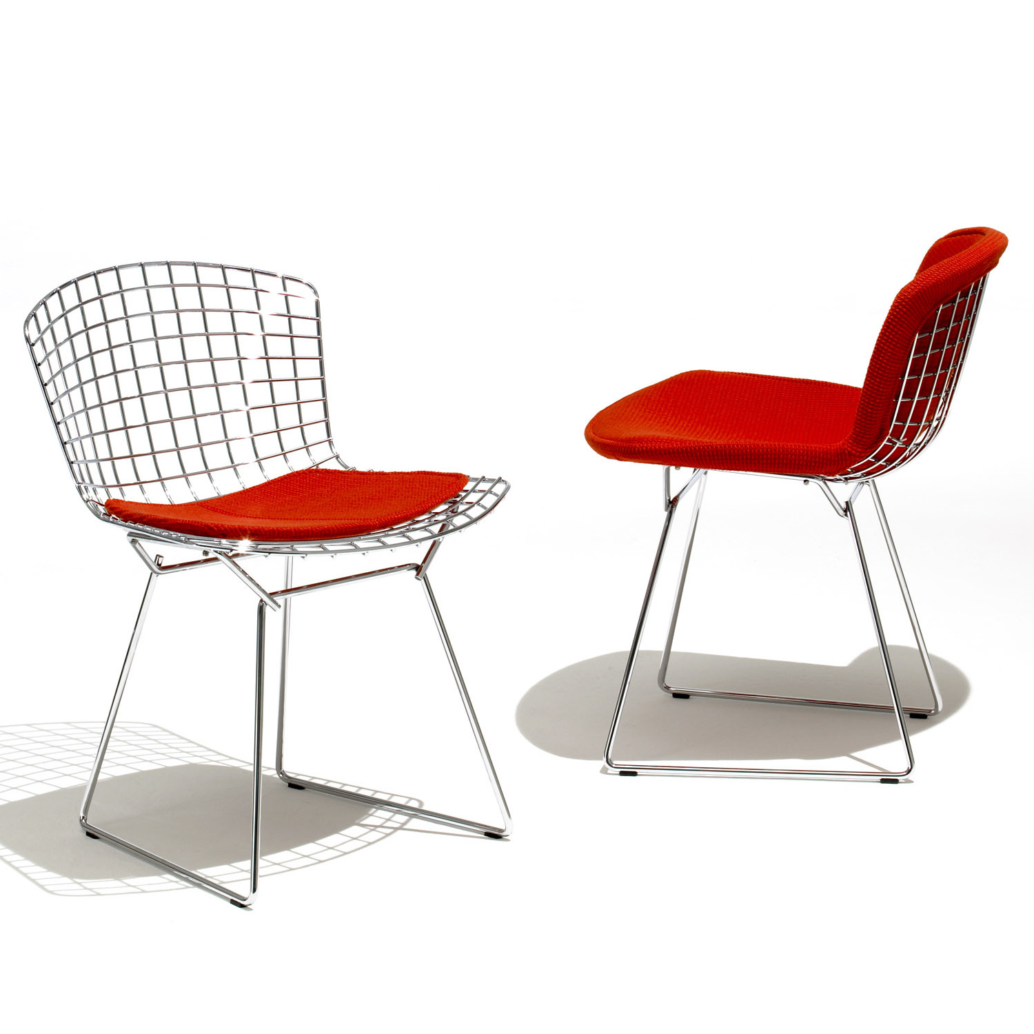 Bertoia Side Chairs in Chrome