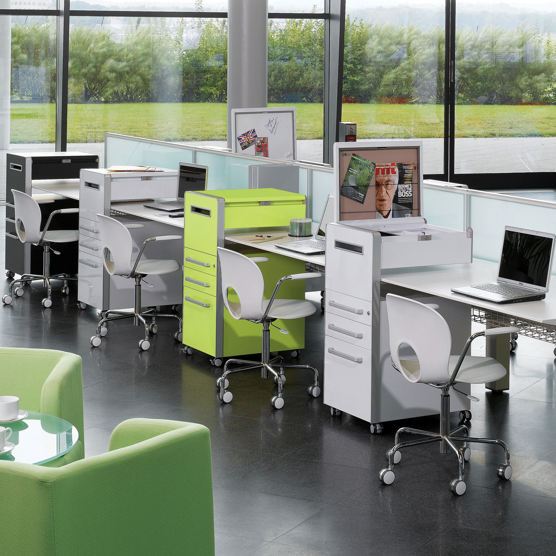 Good Storage Above Work Surface: Bite Mobile Desk Pedestal