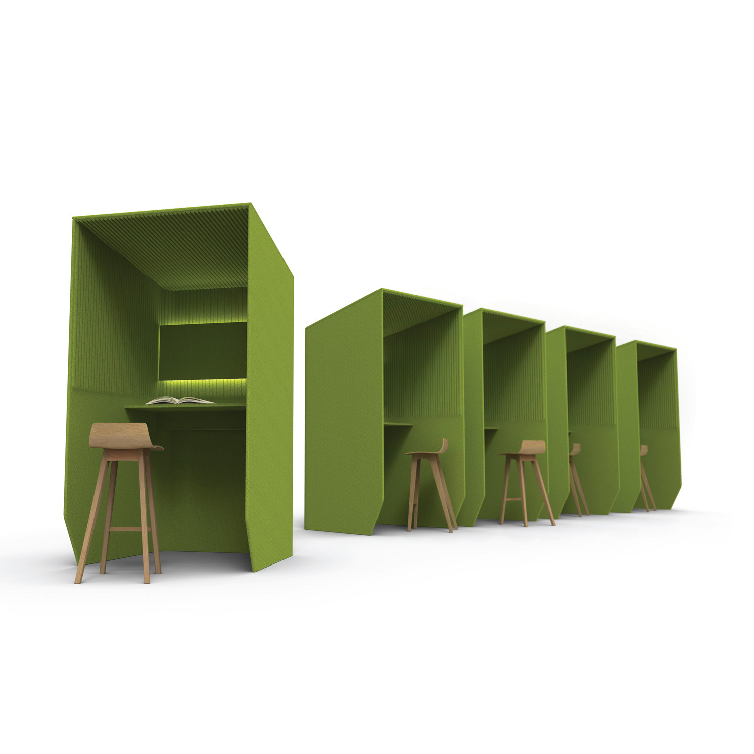 BuzziBooth Acoustic Desk Booths