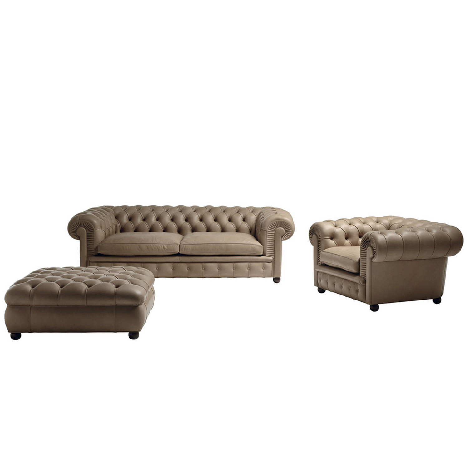 Chester One Sofa, Armchair and Pouf
