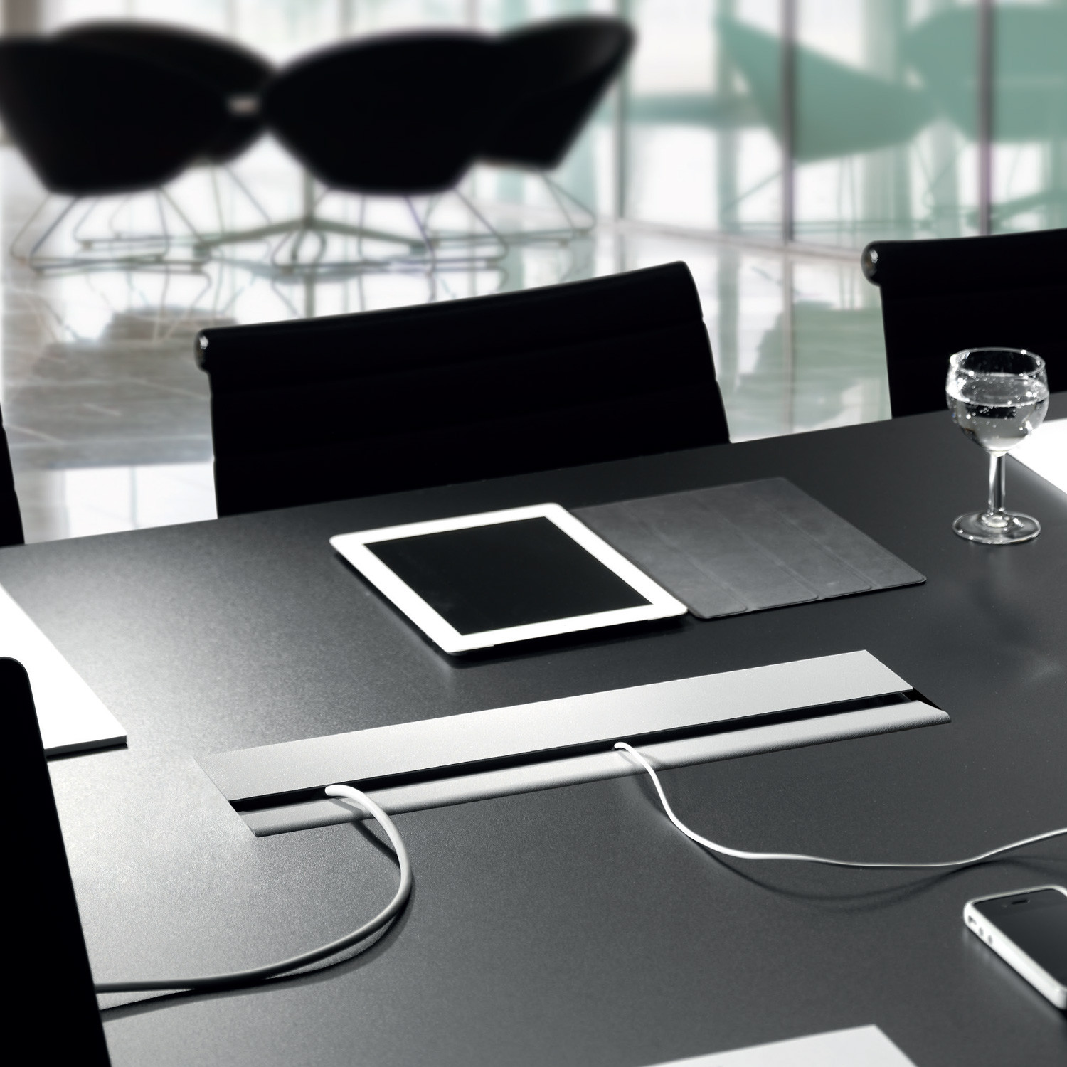 Conference Table Power And Data Modules Apres Furniture - Conference table with power and data