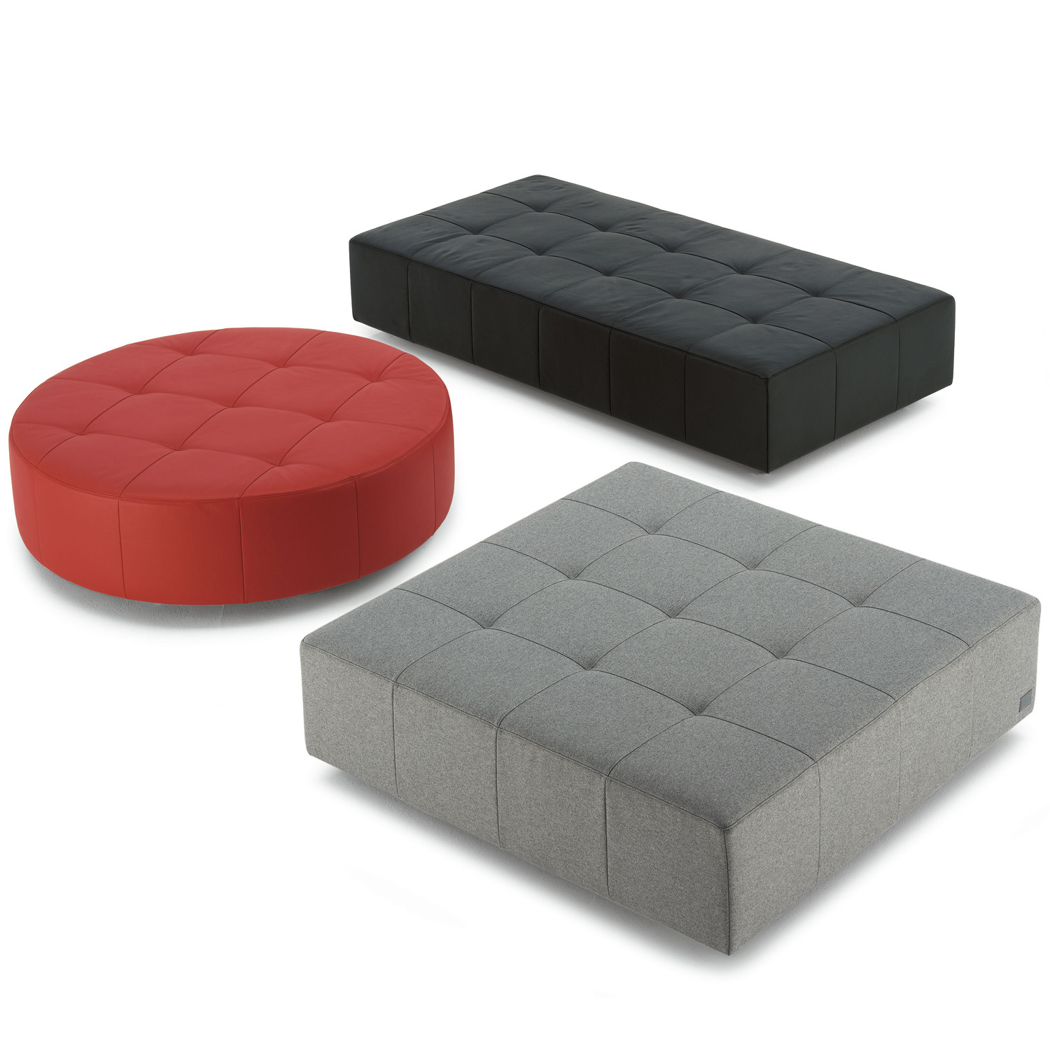 Cubo Poufs 3 Shapes