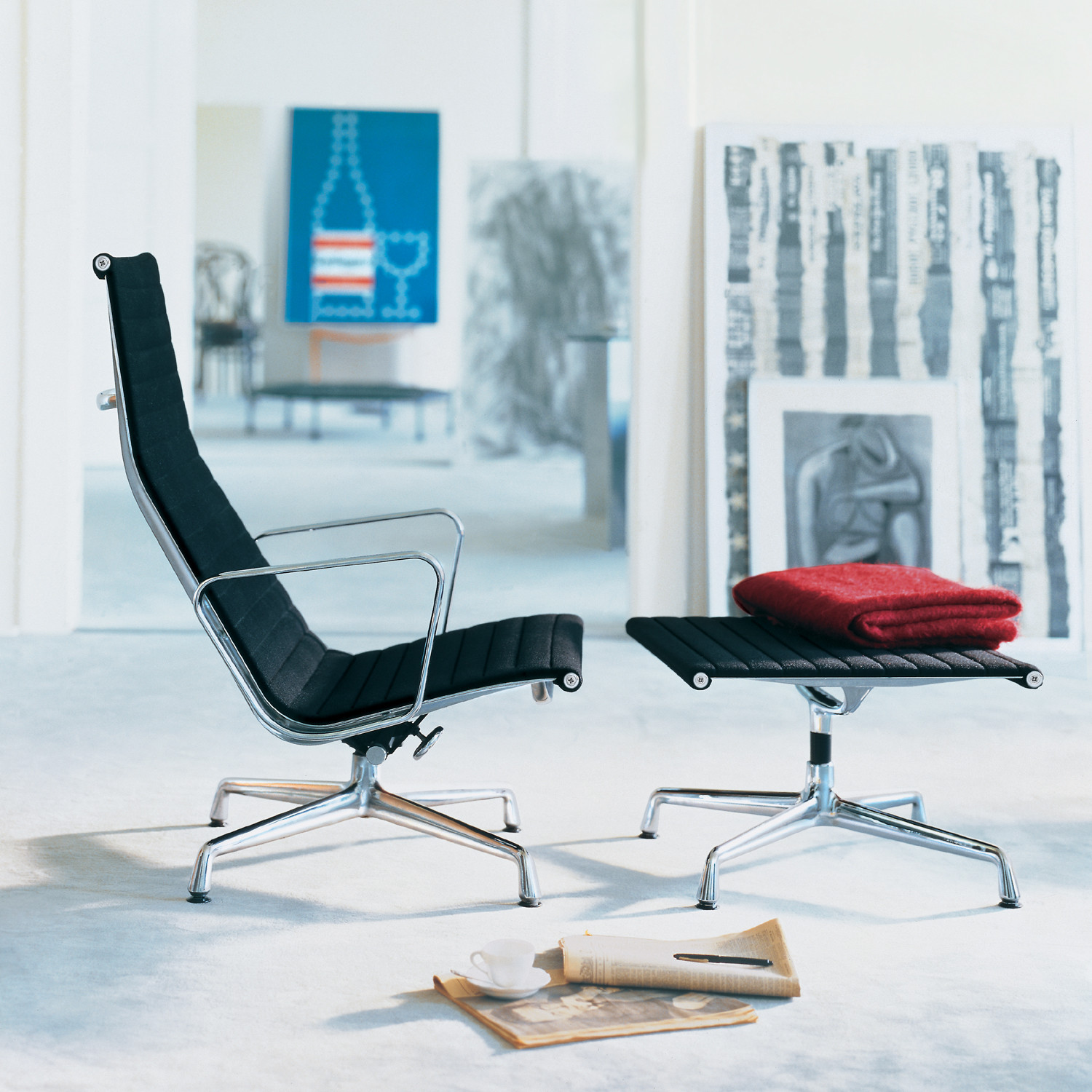 Eames Lounge Chair and Stool