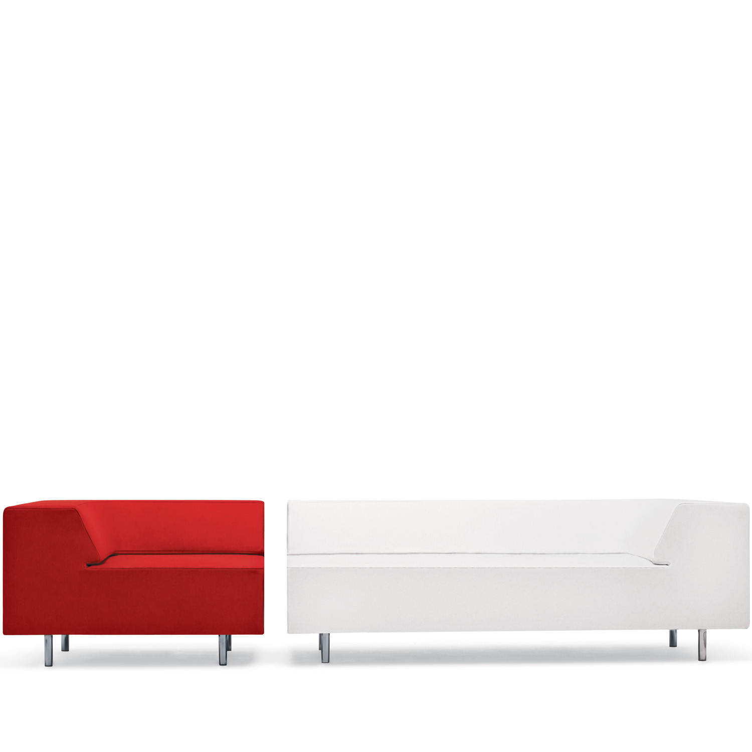 Easy Block Two Seat Modular Sofa and Armchair