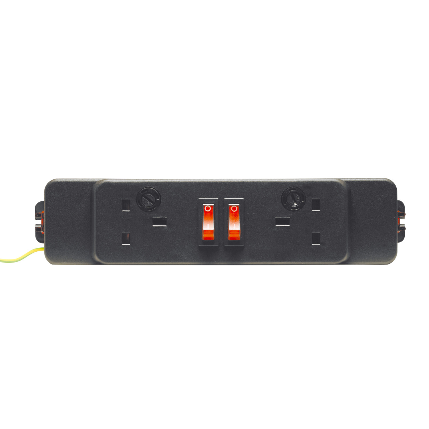 Elite 2x UK 5A Power Sockets 2x Neon Switches
