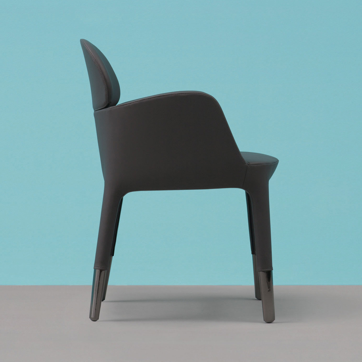Ester Armchair WIth Black Nickel Legs