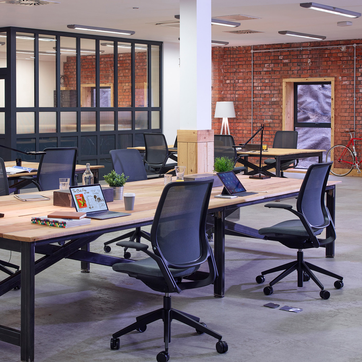 Eva Mesh Task Chairs in the Office