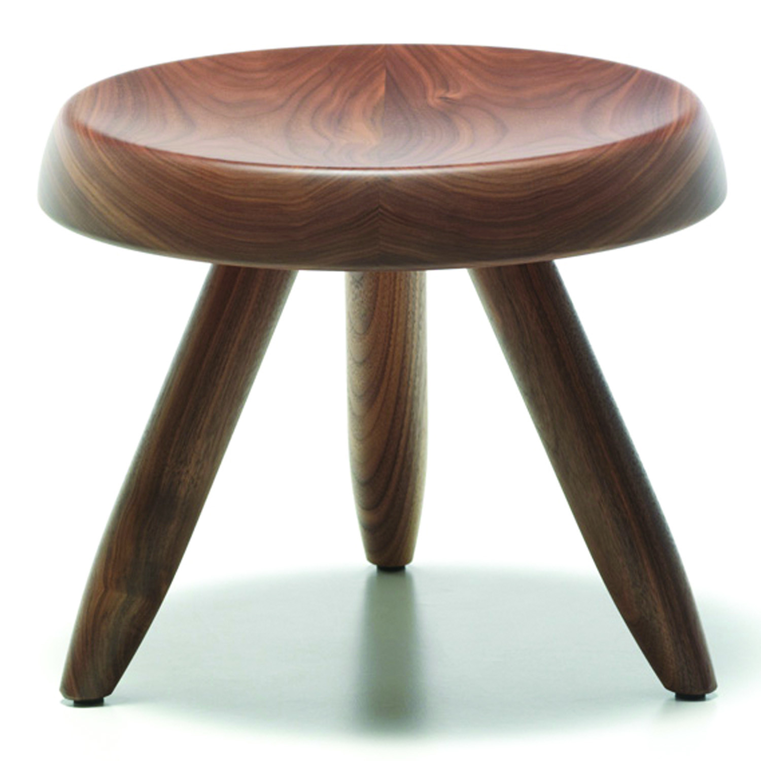 524 Tabouret Berger Stool Walnut