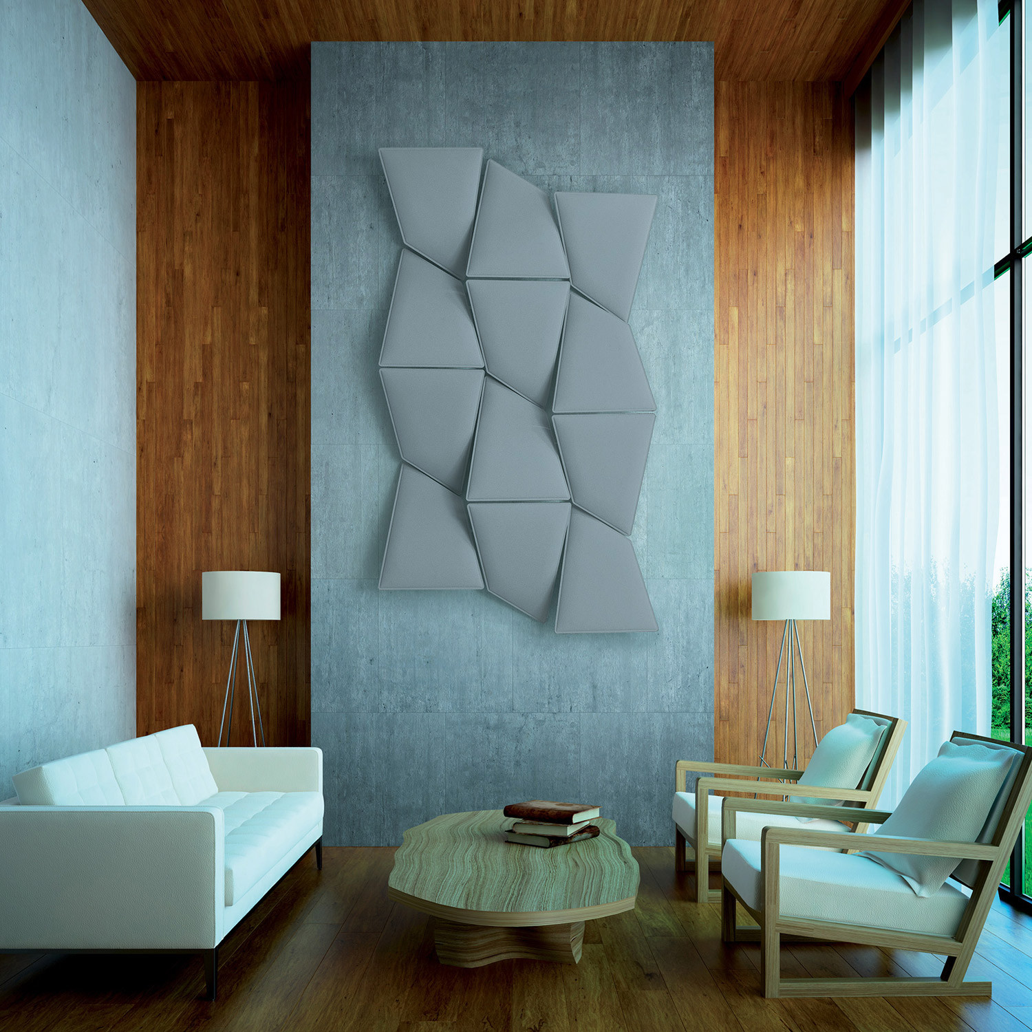 Flap Acoustic Wall Panels