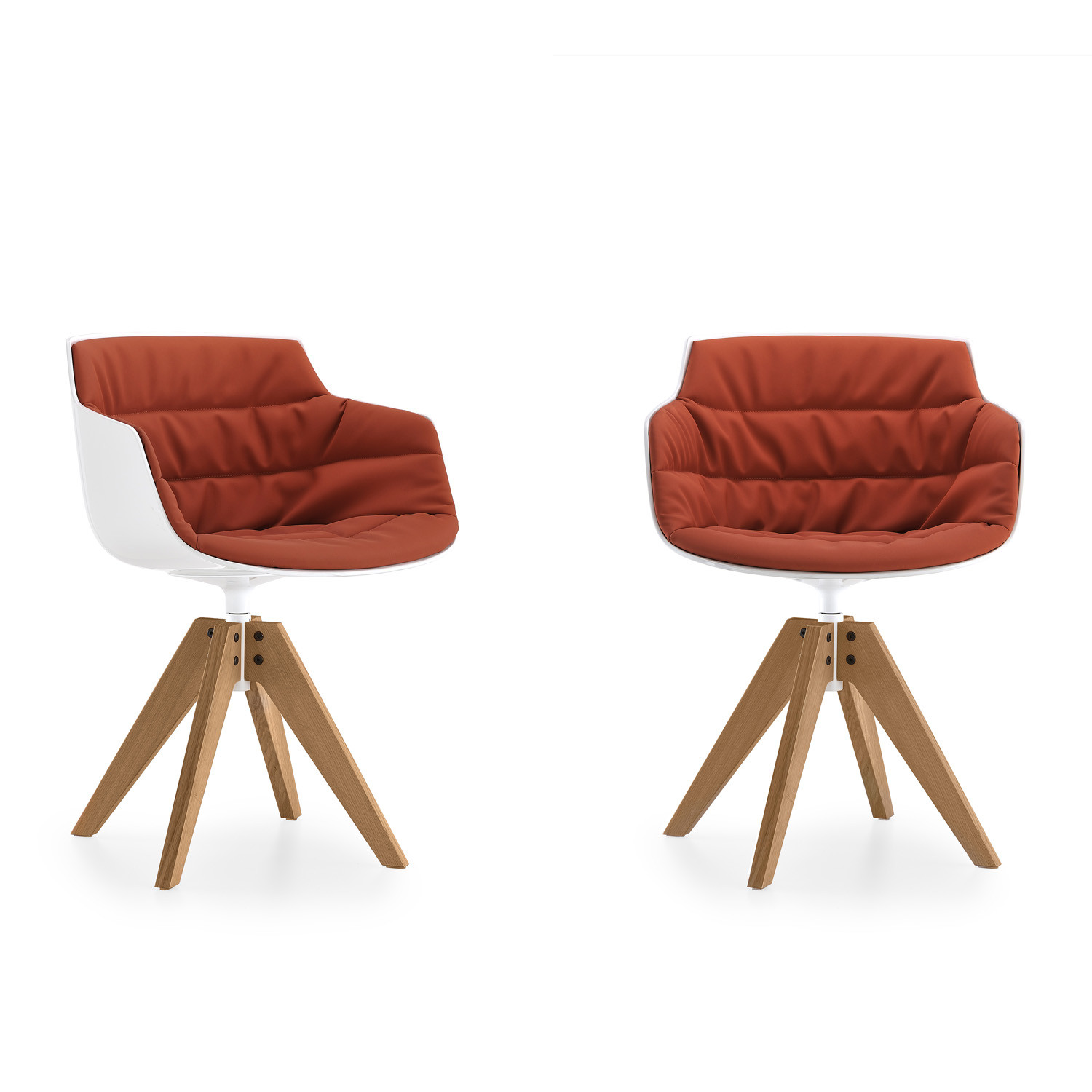 Flow Slim Wooden Armchairs