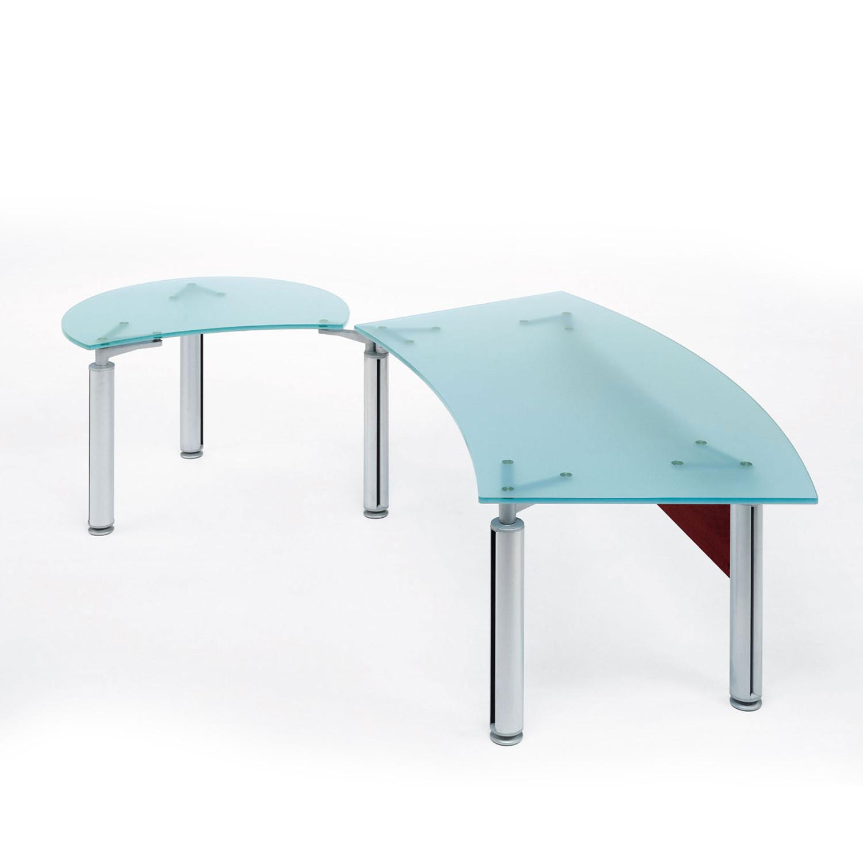 Modern Glass Desk brilliant modern glass desk desks for home office the linear shape
