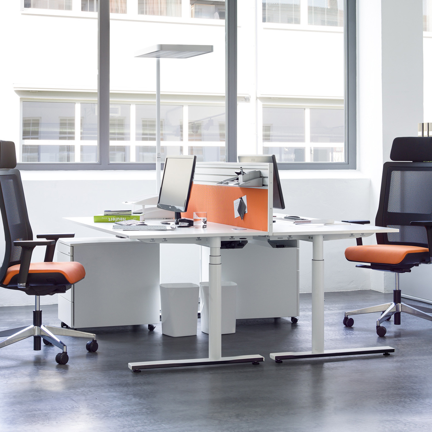 Foxx Adjustable Desks by Wiesner Hager