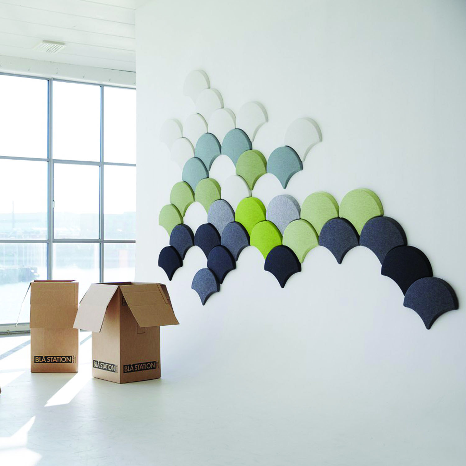 Ginkgo Acoustic Wall Panels by Bla Station