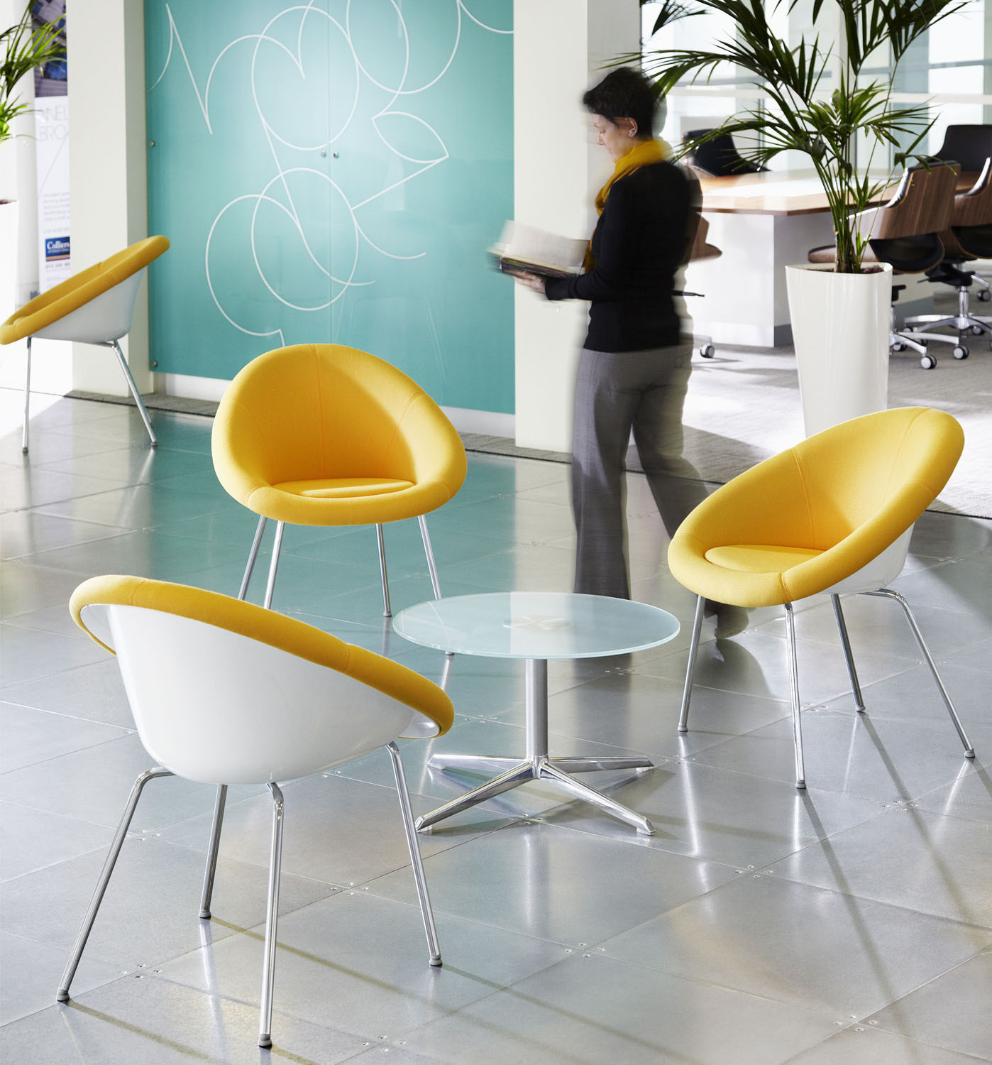 Gloss Tub Chairs | Modern Reception Chairs | Apres Furniture