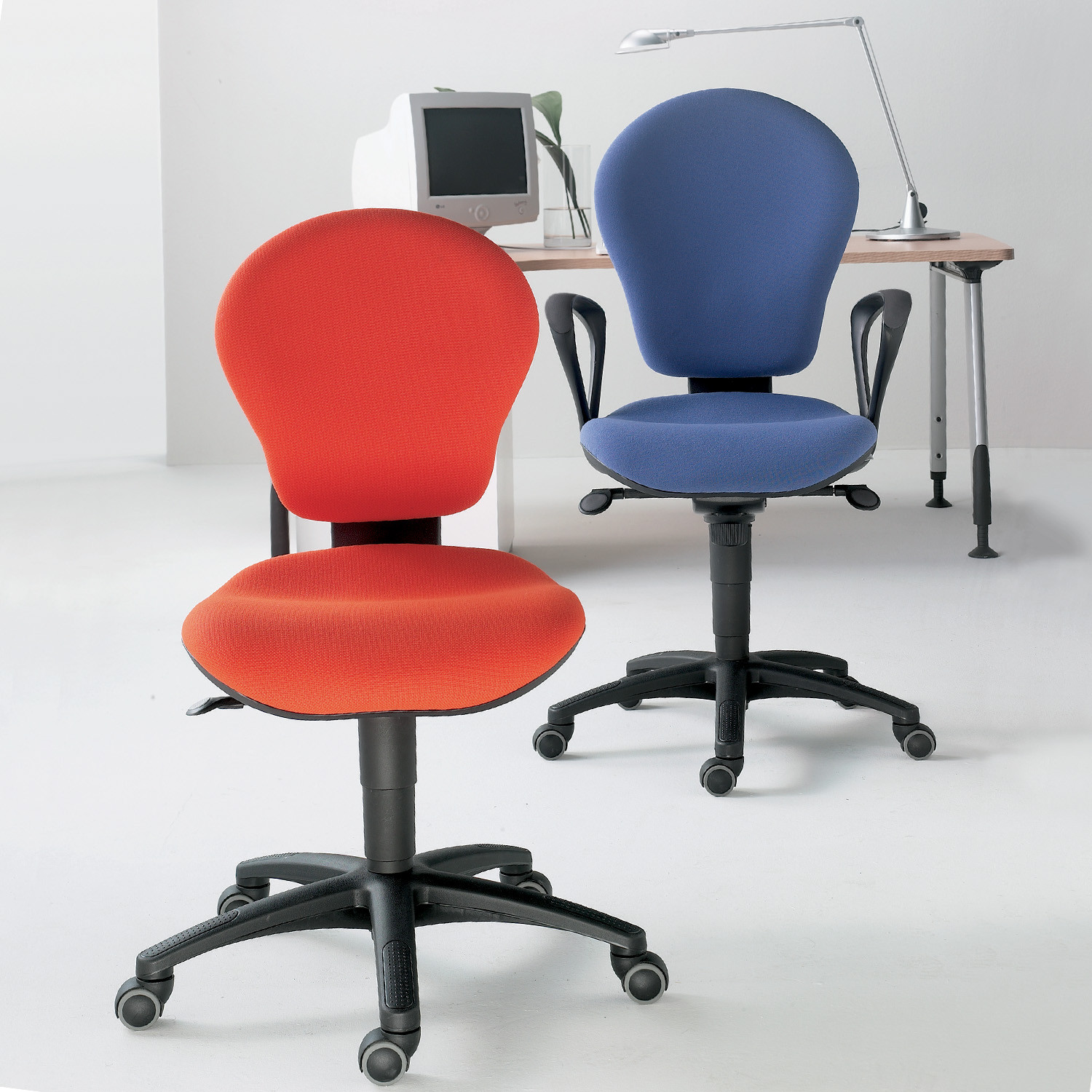 Gray Task Chairs by Luxy