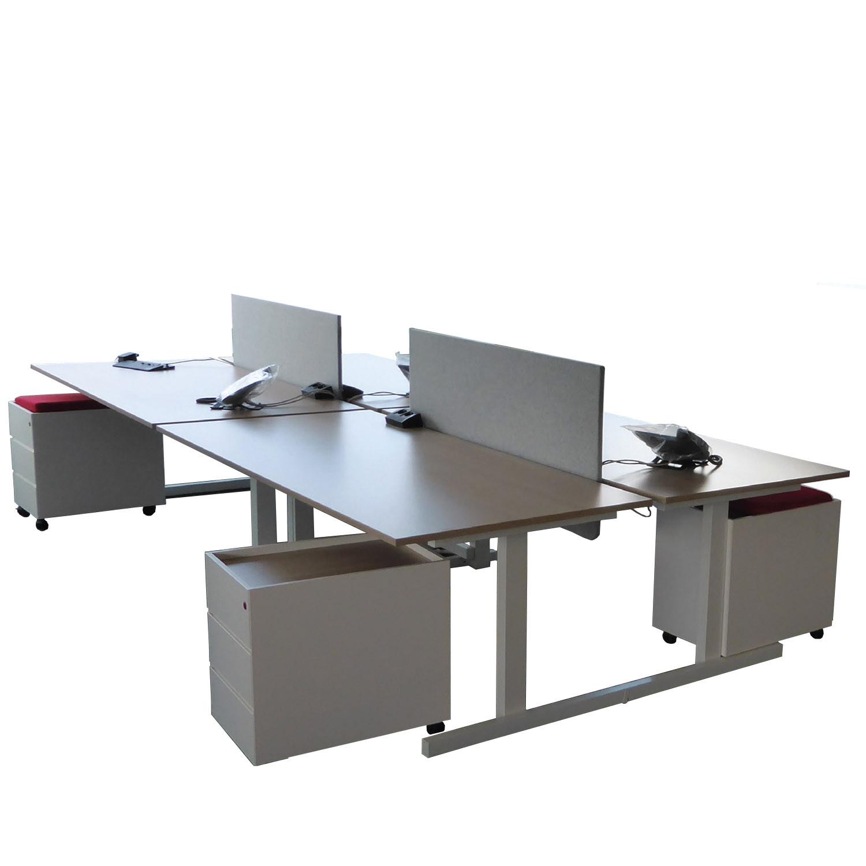 Grid Double Bench Desks