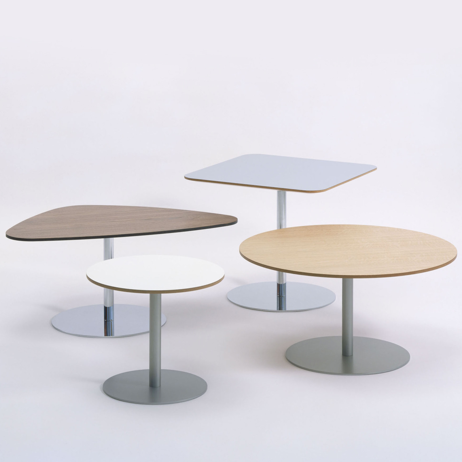 Hm20 Tables are available in six tabletop shapes