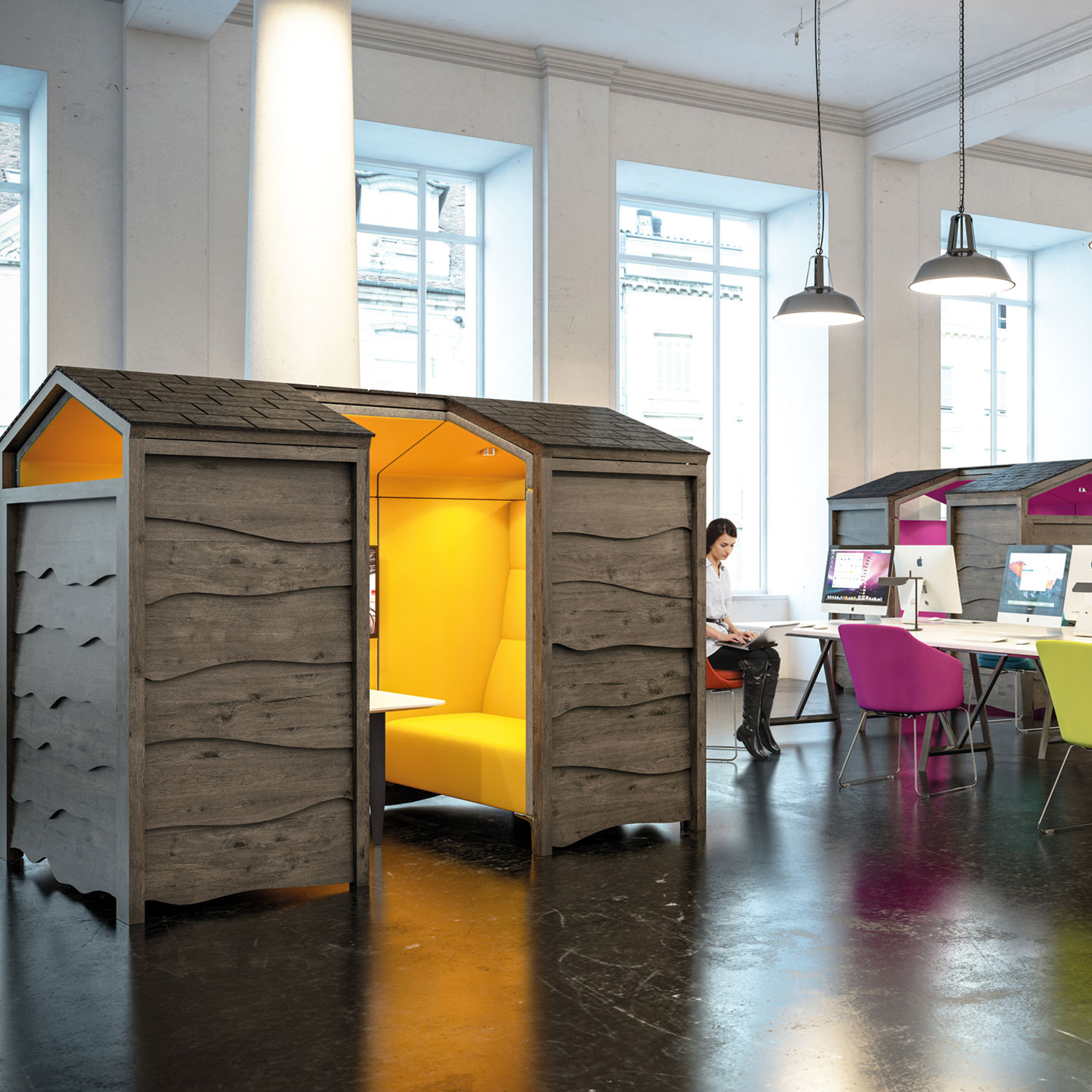 Huddle Shed for Social Spaces