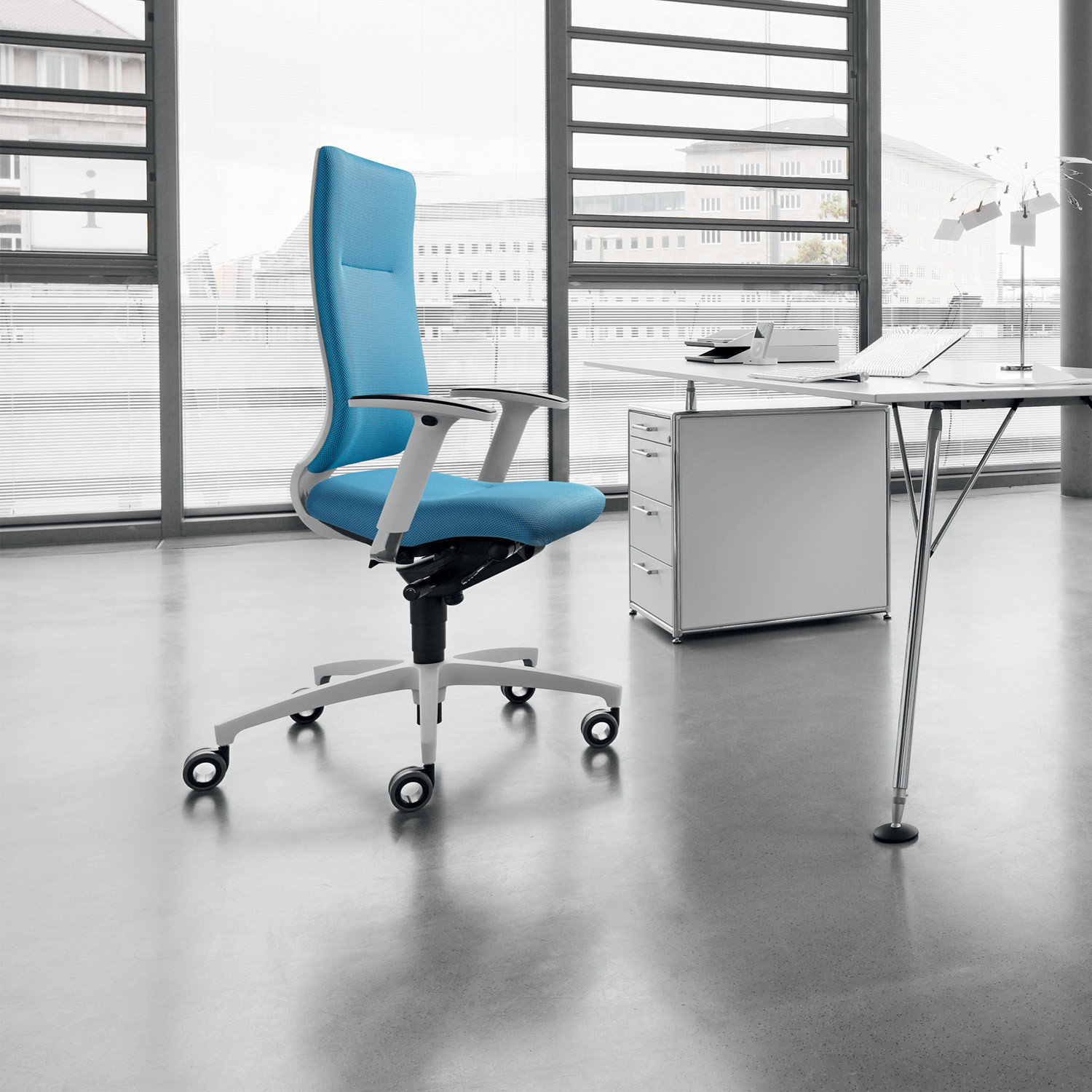 In Touch White Desk Chair from Dauphin