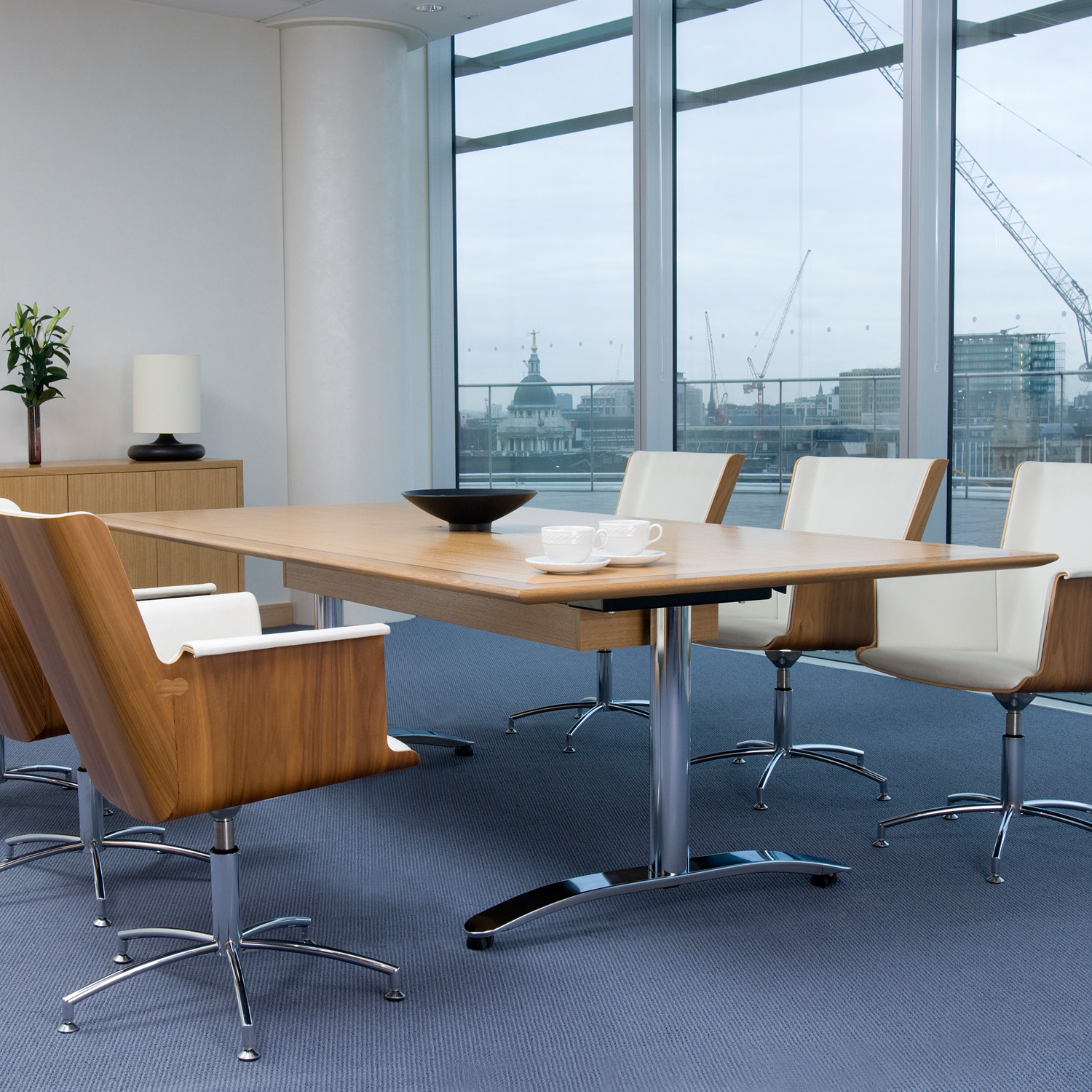 Crome Folding Meeting Table