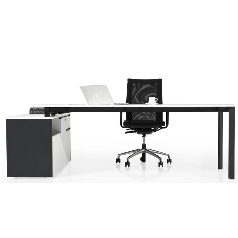 Koleksiyon Lean Office Desk with Pedestal