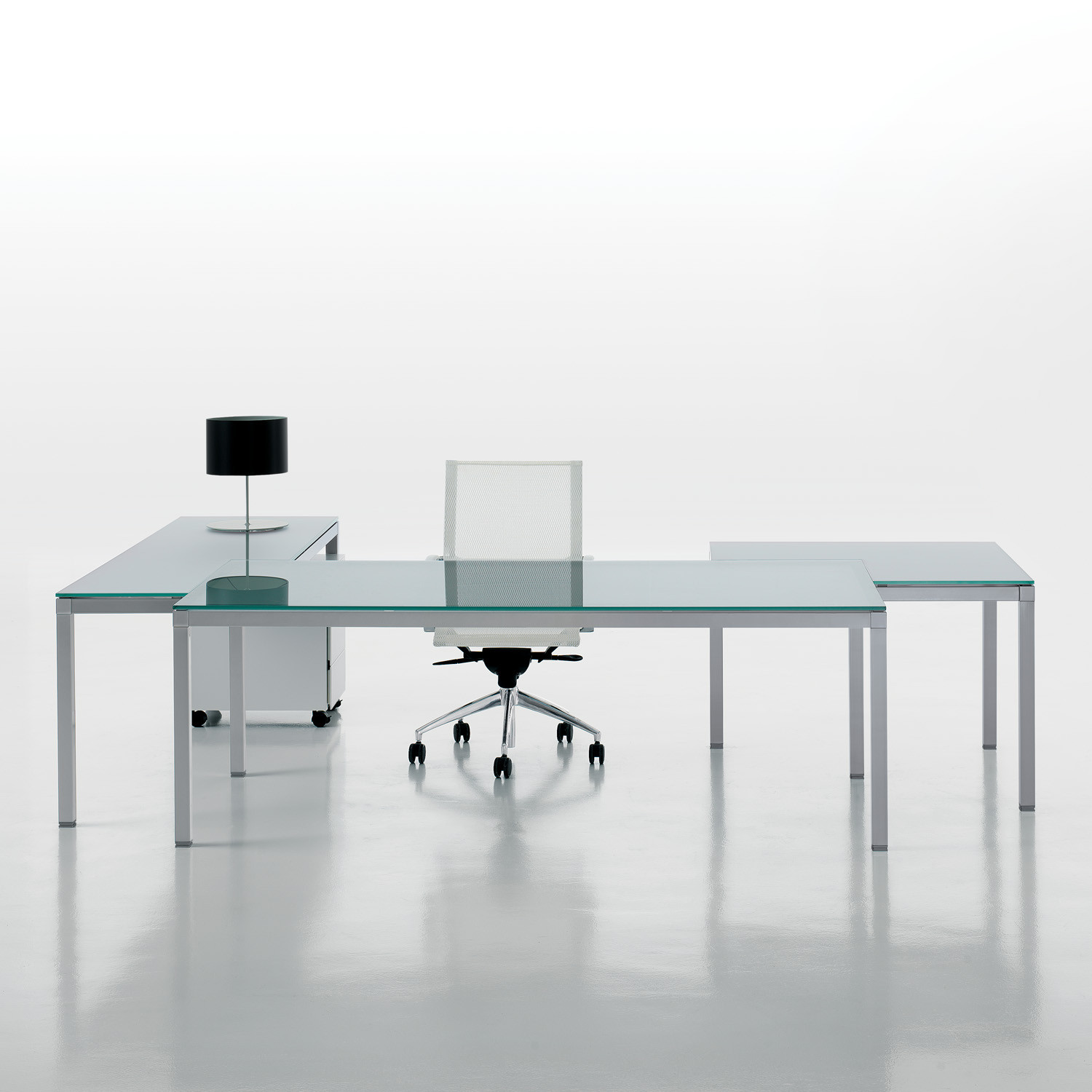 Link Executive Modular Glass Desk