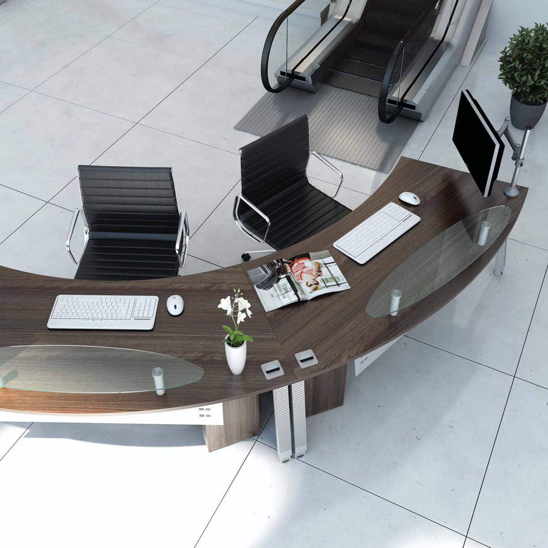 Linnea Radius Reception Desk