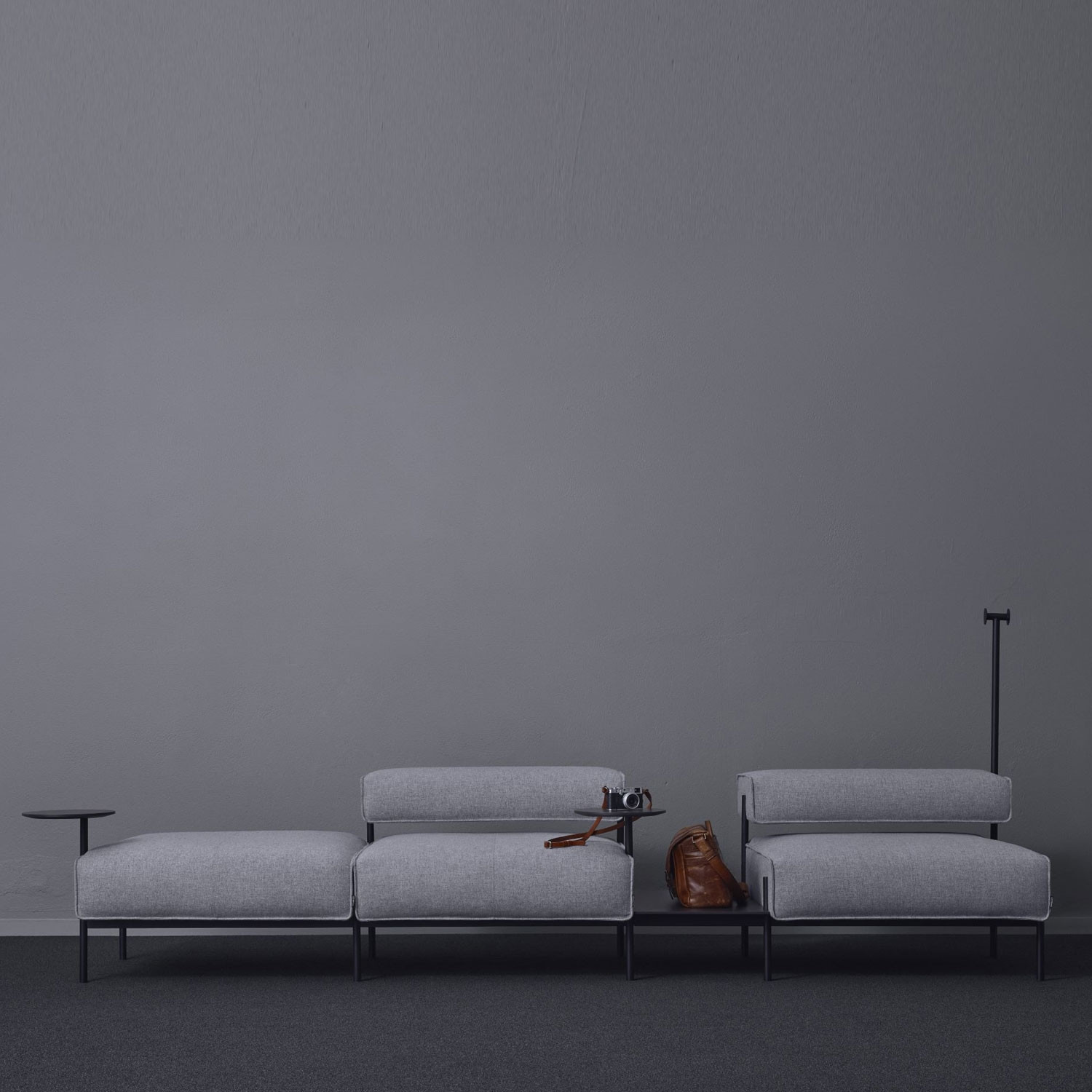 Lucy Sofa With Tables and Clothes Hanger