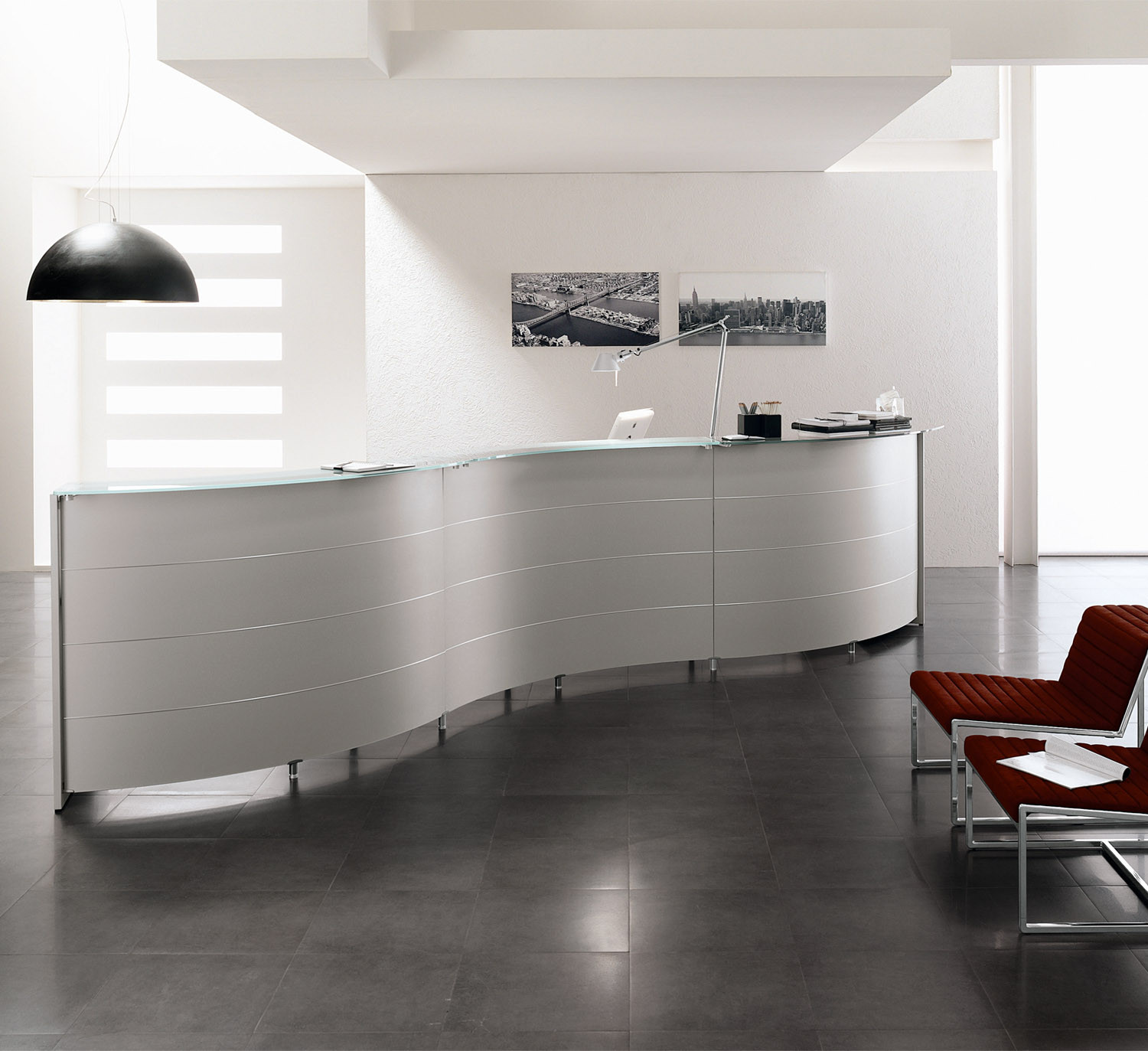 Luna Curved Reception Counters