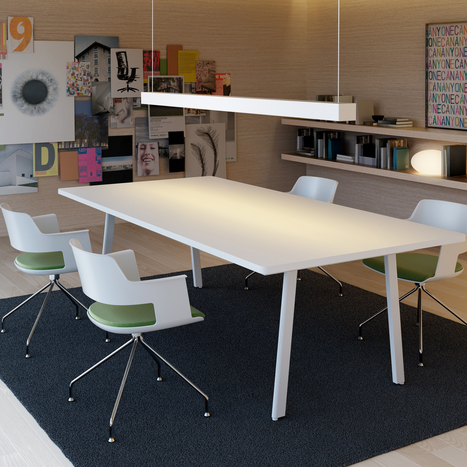 M10 meeting table office furniture apres furniture for Meeting table design 3d