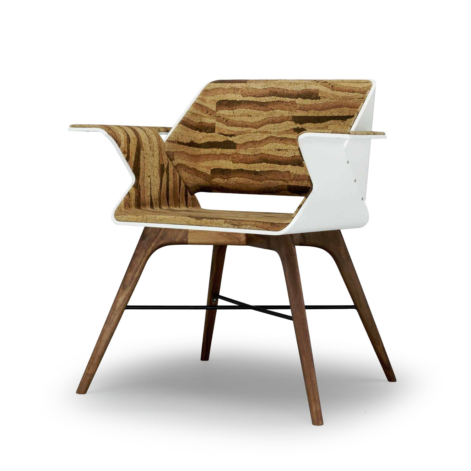 Nest Wings Armchair frame in painted wood