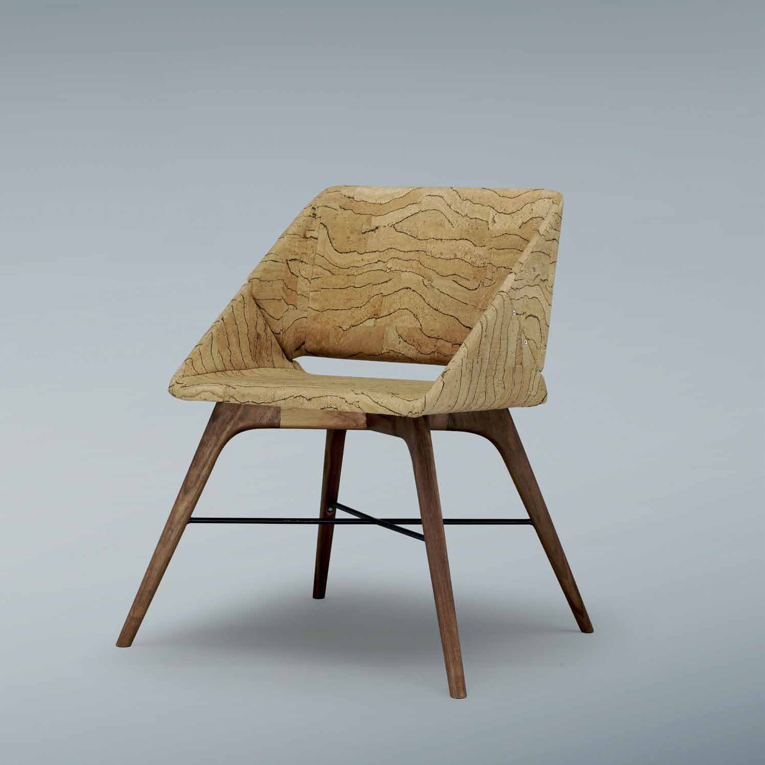 Nest Chair fully upholstered in cork
