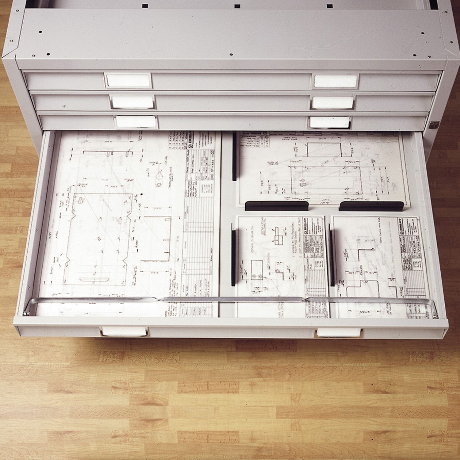 Bisley Plan File Cabinet Drawer Storage