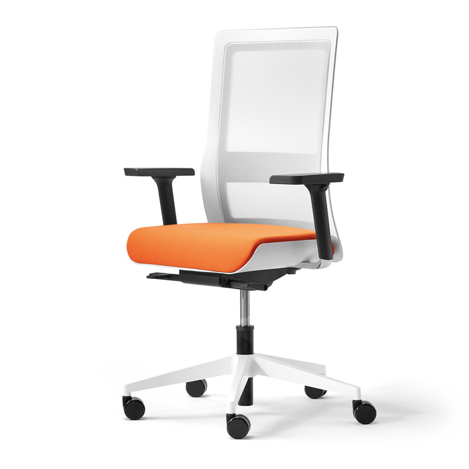 white frame office chair. Poi Office Chair With White Frame A