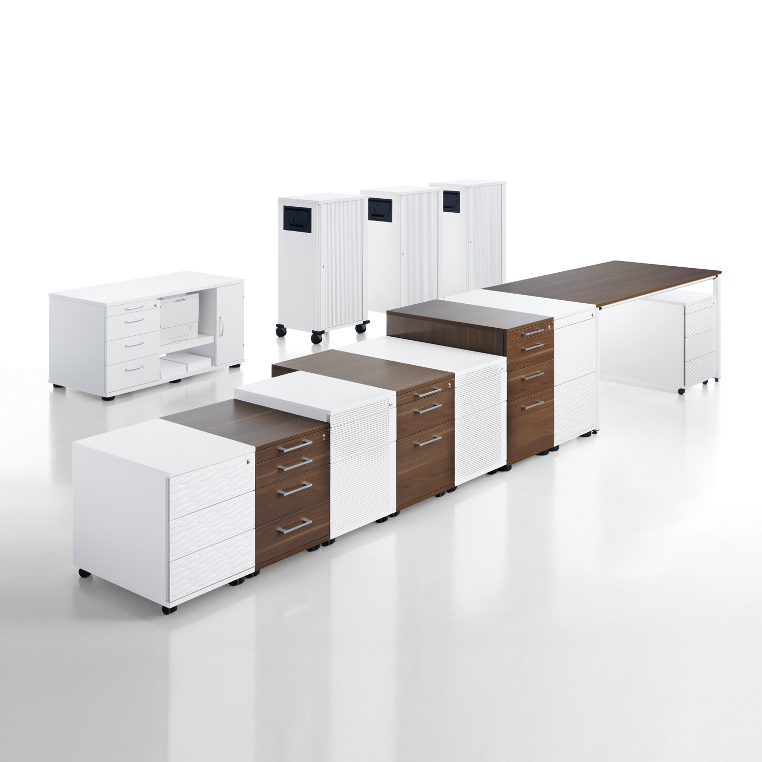 Sedus Pedestals Range is available in various finishes