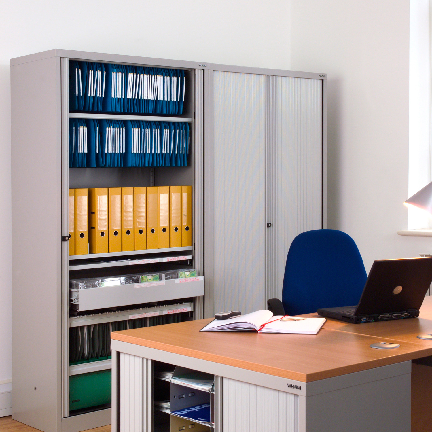 AST Tambour Cupboards for Office Storage
