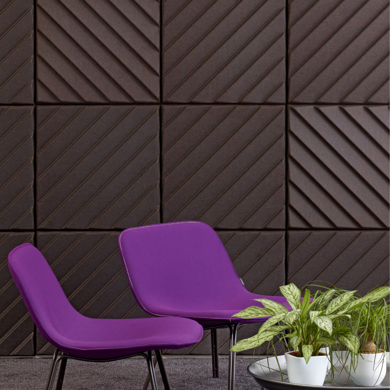 Soundwave Stripes Acoustic Wall Panels