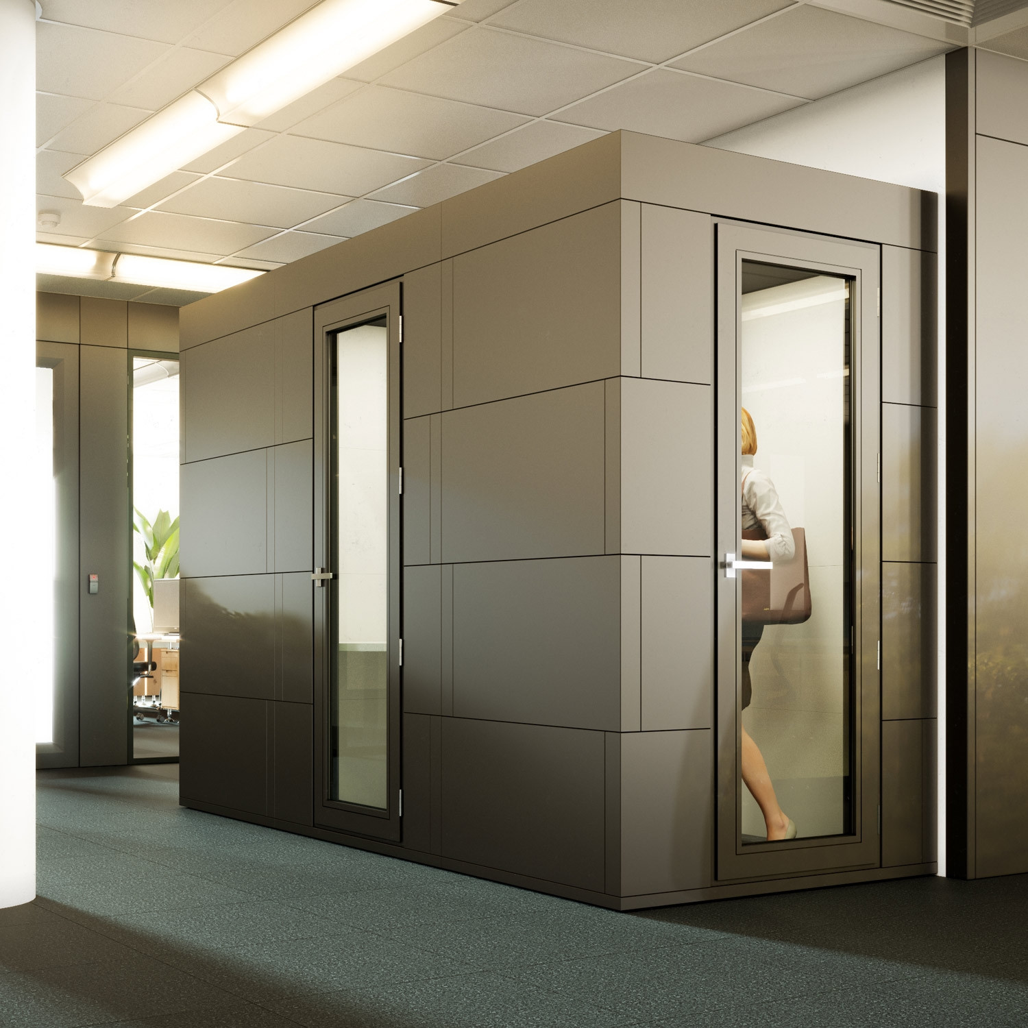 office privacy pods. spacio bricks mini pod office privacy pods