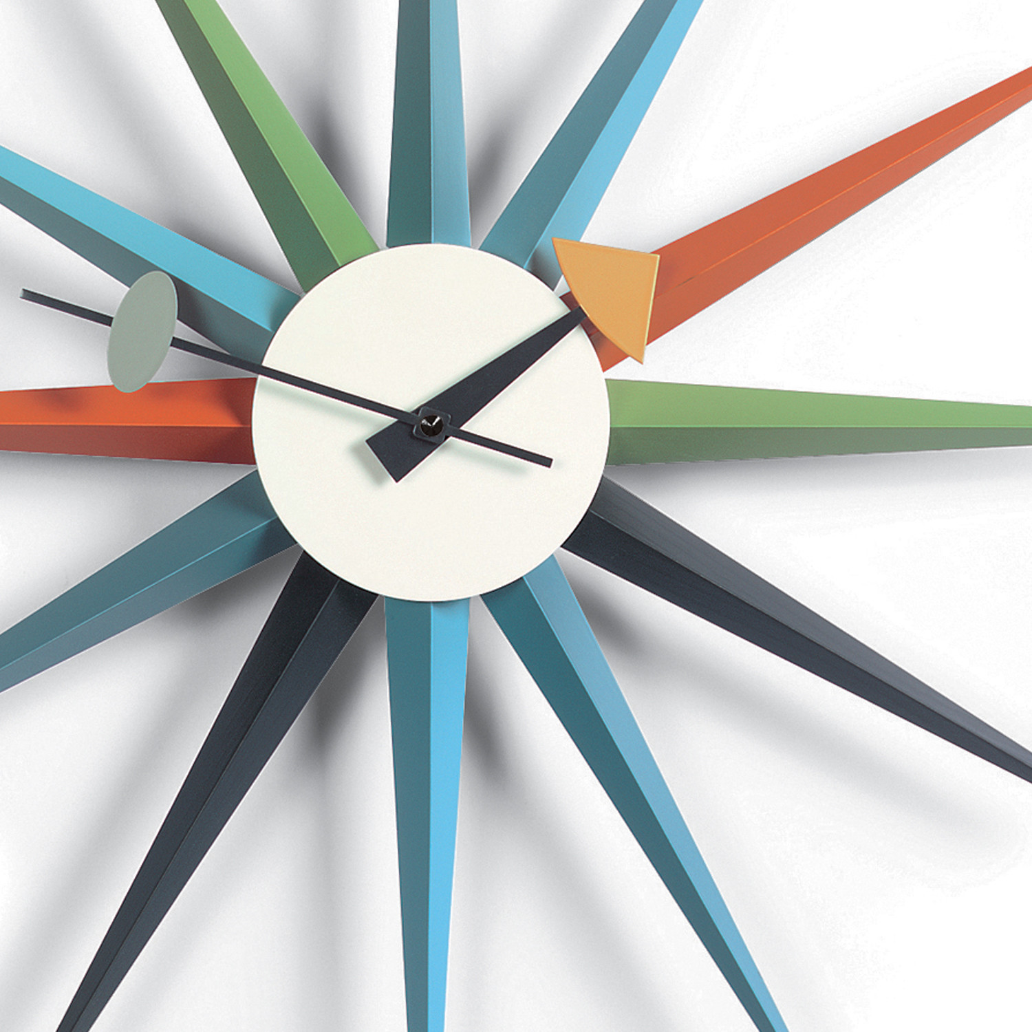Sunburst Wall Clock Detail