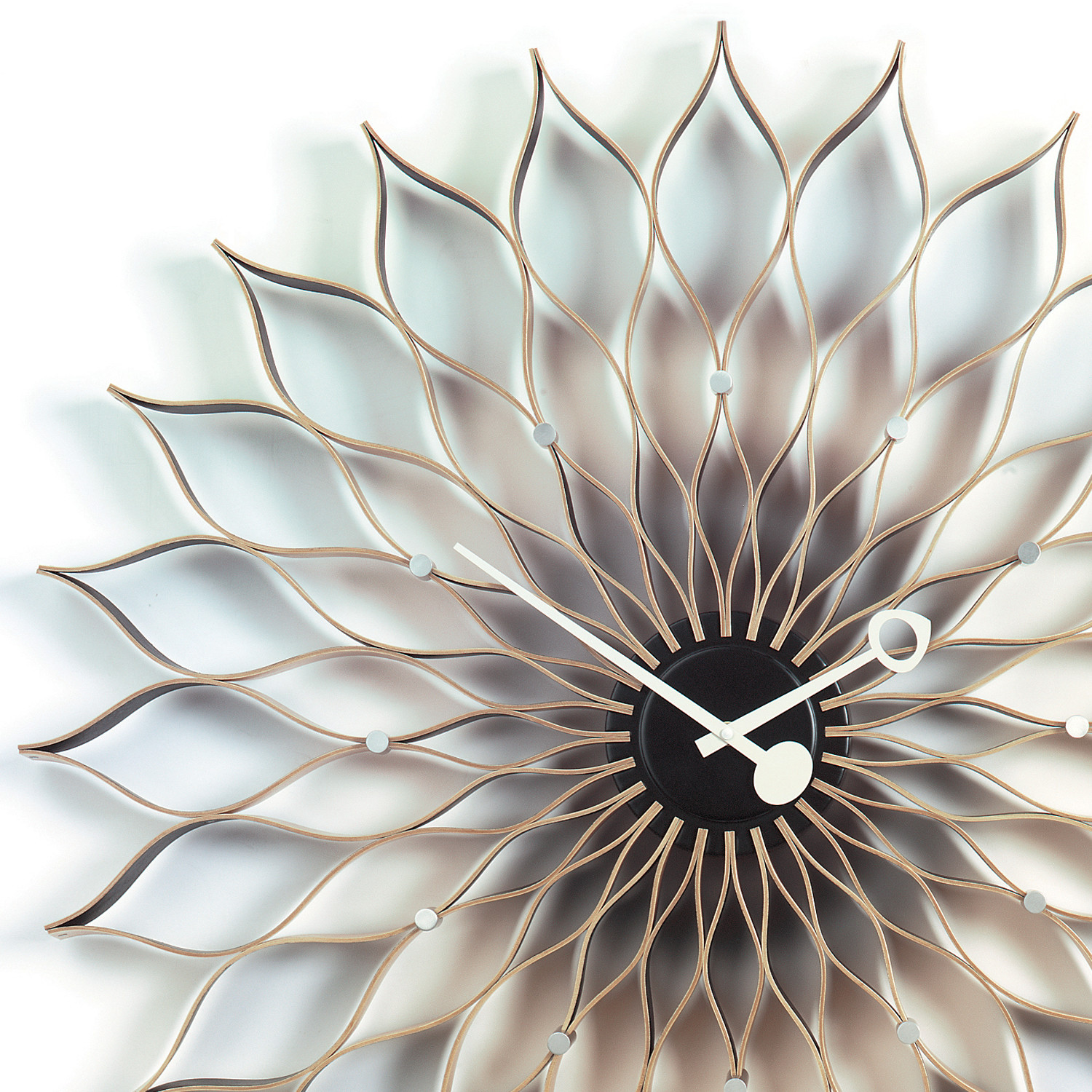 Sunflower Clock Detail