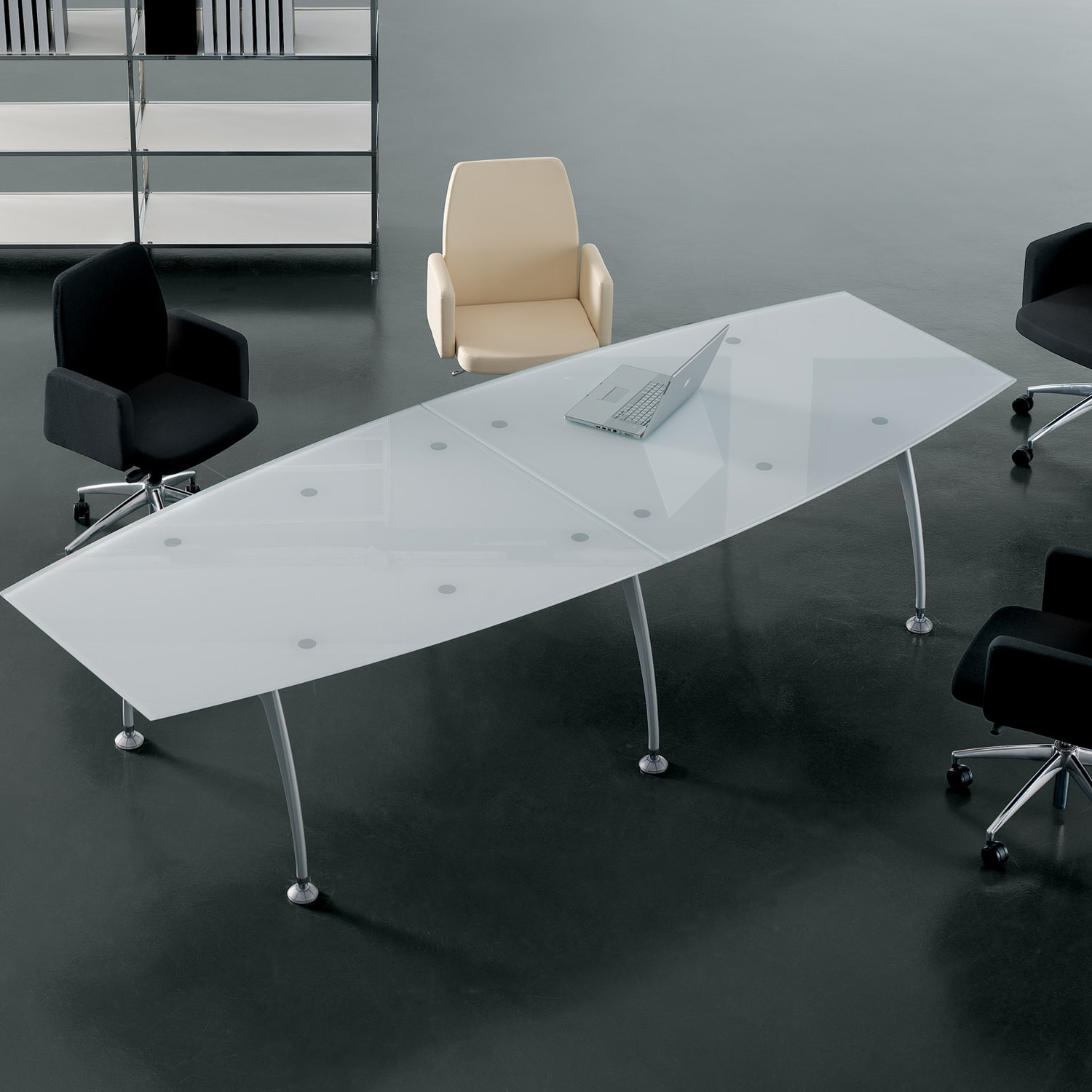 Tipper Glass Meeting Table