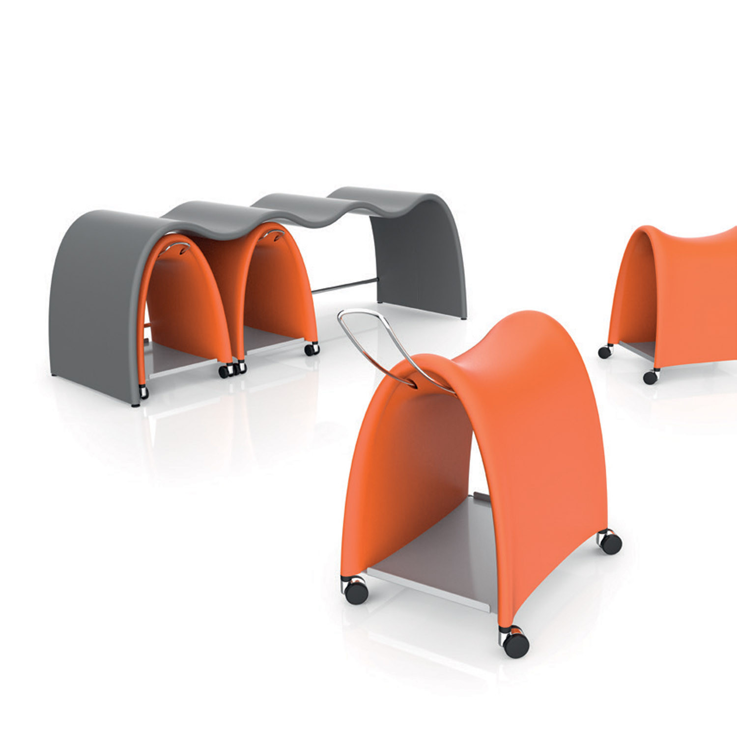 Torro Saddle Stool and Bench Station