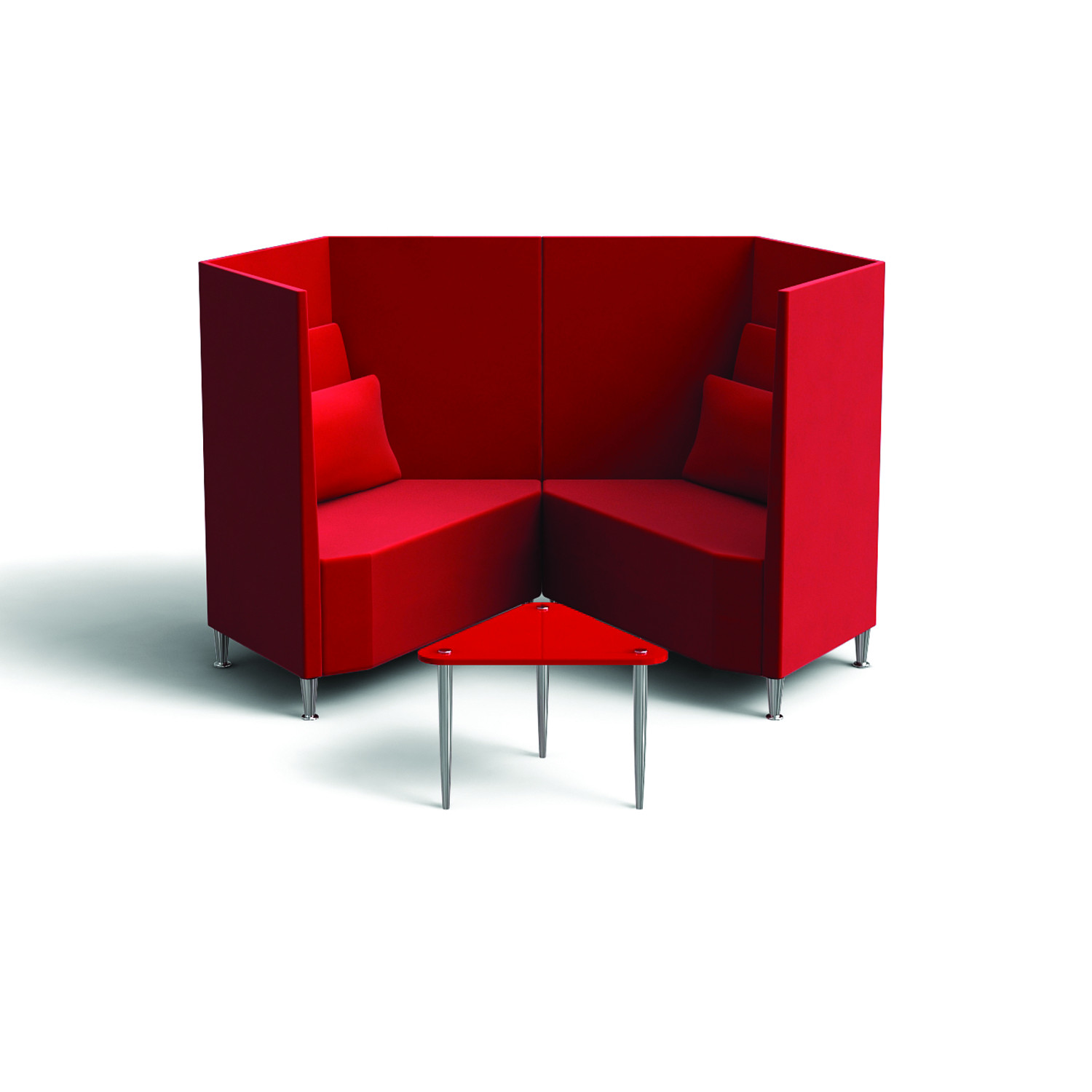 Trapeze Sofa Facing Pair